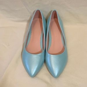 Robin's Eggs Blue Pointed Toe Flats FINAL PRICE